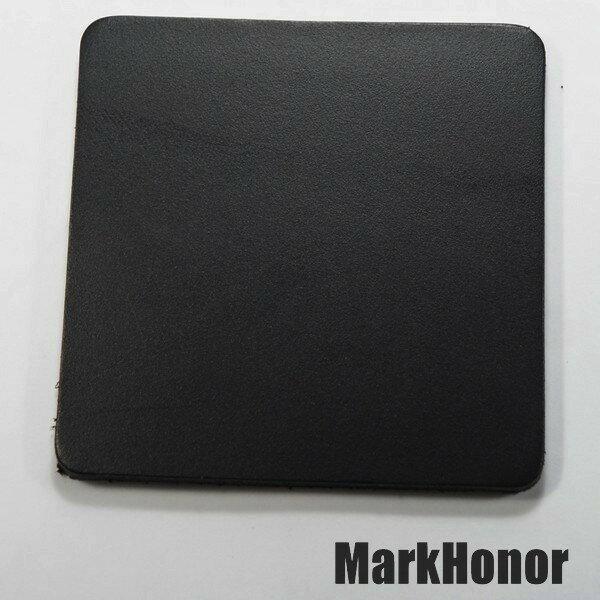 皮革牛皮皮製真皮杯墊皮杯墊(黑)方邊長8公分-Mark Honor