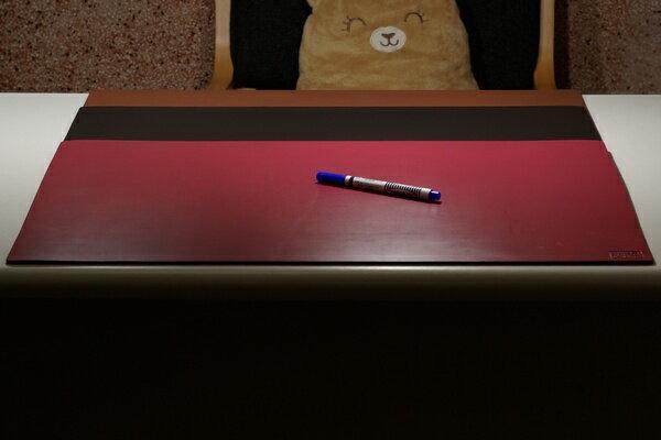 皮革牛皮皮製真皮桌墊皮桌墊大桌墊超大桌墊(酒紅)方邊長90公分*60公分-Mark Honor