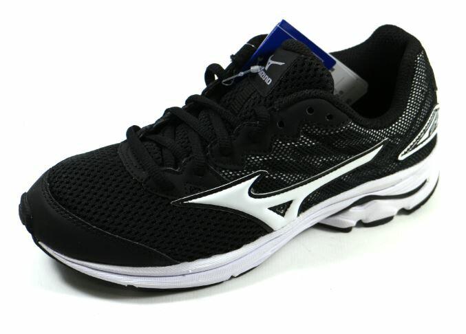 [陽光樂活] MIZUNO 美津濃 親子人氣鞋款 WAVE RIDER 20 Jr (大童) 運動鞋 - K1GC172501 黑/白