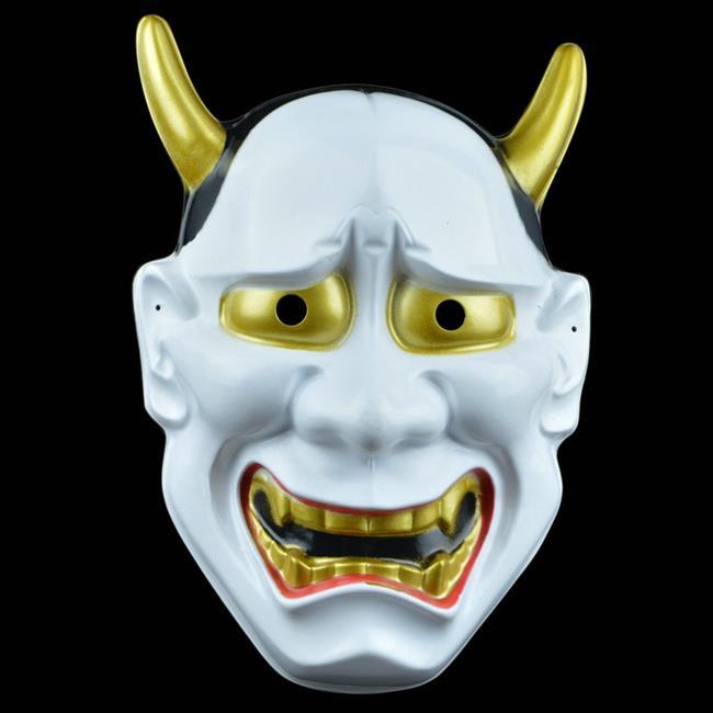 萬聖節 日本般若面具 鬼首面具 白鬼願凜 面具/眼罩/面罩cosplay 派對 整人生日【塔克】