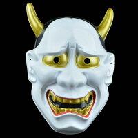 萬聖節Cosplay配件推薦到萬聖節 日本般若面具 鬼首面具 白鬼願凜 面具/眼罩/面罩cosplay 派對 整人生日【塔克】就在塔克玩具百貨推薦萬聖節Cosplay配件