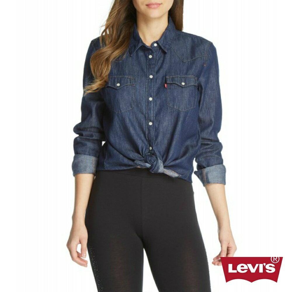 Levis 女款 牛仔襯衫  /  雙口袋珍珠扣 1