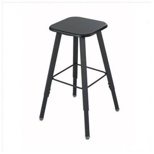 "Safco AlphaBetter Stool - Medium Density Fiber (MDF) Black Seat - Steel Black Frame - 13"" Seat Width x 13"" Seat Depth 1"