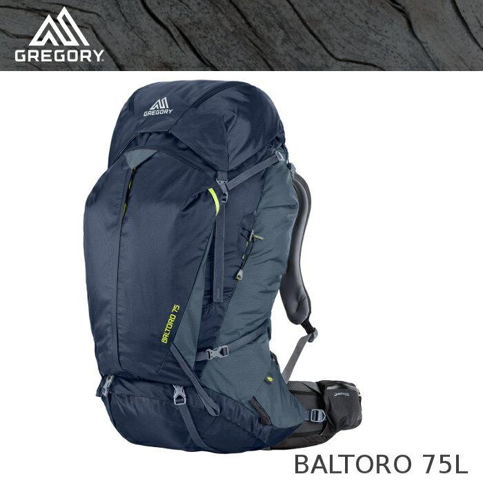 【速捷戶外】美國GREGORY Baltoro 75 男款專業登山背包 M號 海軍藍 #65780