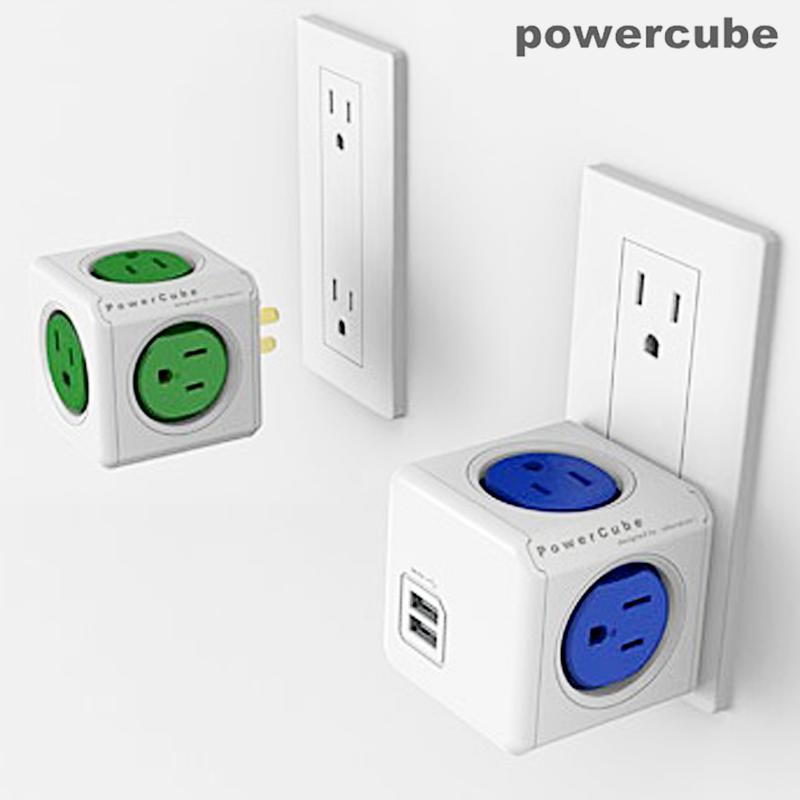 【荷蘭POWERCUBE魔術方塊擴充插座】延長線 USB插座 萬用插頭 轉接頭 快充插座 電源插座 充電器 充電線【AB338】
