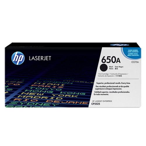 【HP 碳粉匣】HP CE270A 原廠黑色碳粉匣650A/ CP5525