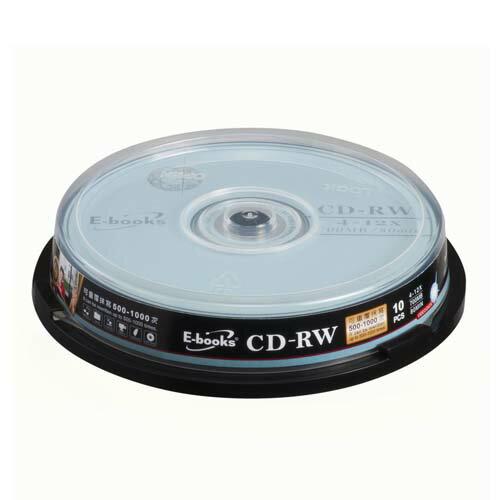 E-BOOKS國際版12X CD-RW 10片桶【愛買】