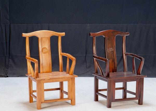 【石川家居】KL-98紫檀官帽扶手辦公椅寫字椅書桌椅扶手椅(右)(單張)台中以北搭配車趟免運費