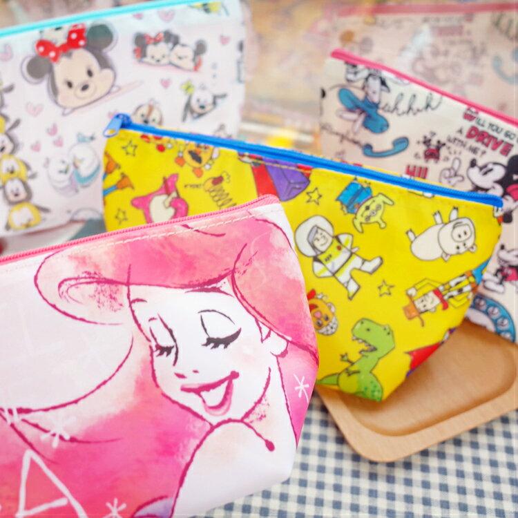 PGS7 日本迪士尼系列商品 - 日本 迪士尼 輕巧 筆袋 化妝包 收納包 TSUM 愛麗兒 玩具總動員【SID7194】