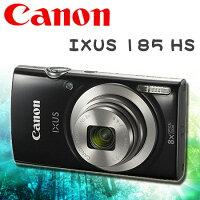 Canon數位相機推薦到CANON IXUS 185 HS 黑色 公司貨 6/1現貨 免運優惠中