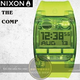 NIXON 實體店The COMP浪花潮流腕錶ALL NEON GREEN公司貨A408-2044/極限運動