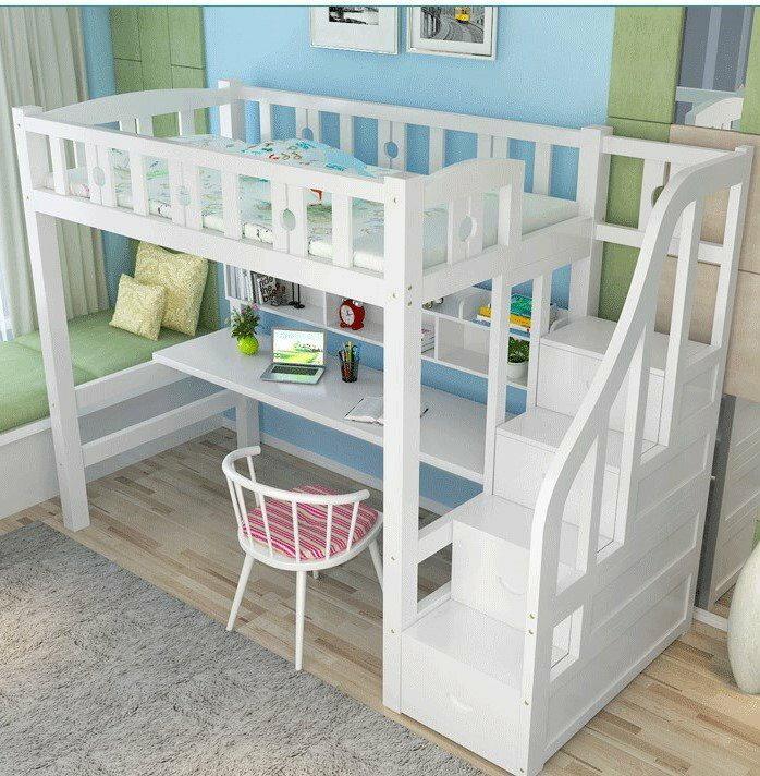綠巨人家具網*高架床成人多功能组合床實木上下床高低床上床下桌省空间宿舍床,樂天雙11