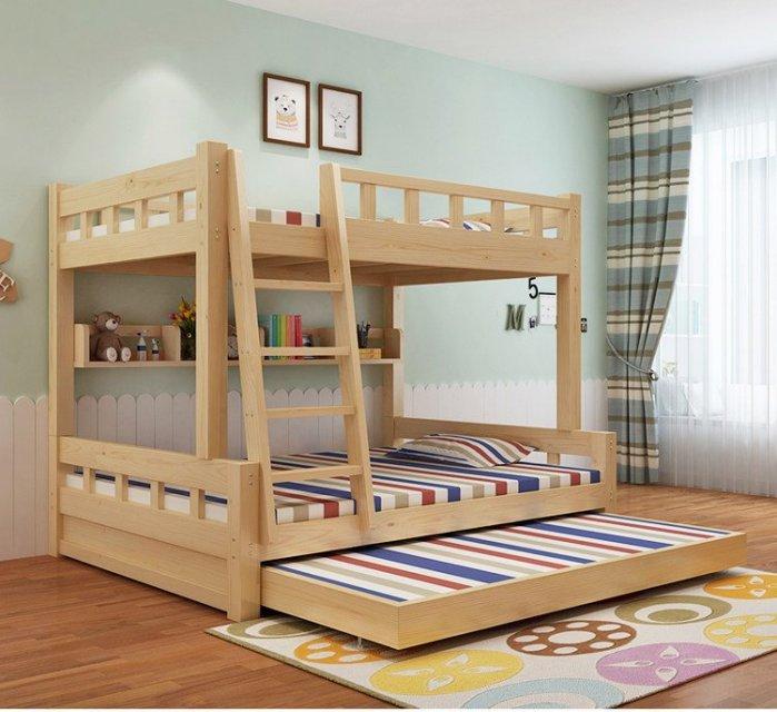 雙層床 上下舖 上下床 上下可拆 成人床 兒童床 拖床 子母床 進口松木 現代簡約【A-14】綠巨人家具