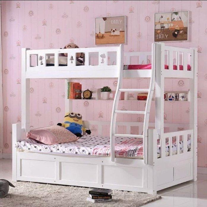 綠巨人家具網*1.35米高低床雙層床1.5米成人實木兒童床上下床子母床雙人床上下舖母子床