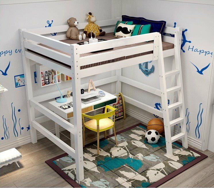 綠巨人家具網*定制高架床實木雙人床高低床衣櫃兒童床成人上下床單人床實木床1.5米