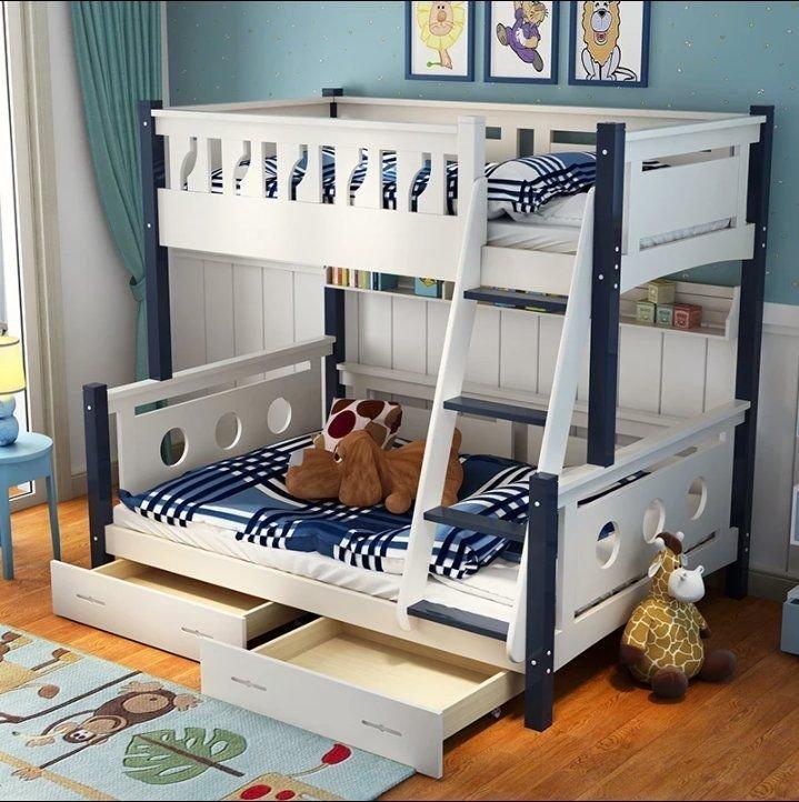 綠巨人家具網*1.5米兒童床1.2上下床1.35上下舖雙層床子母床全實木高低床松木母子床,樂天雙11