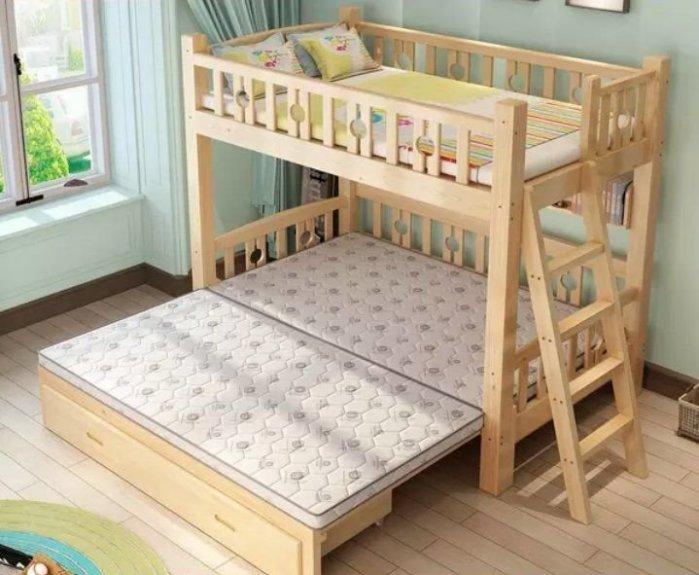 綠巨人家具網*實木下舖拉合床上下床多功能子母床雙層床送上下床墊