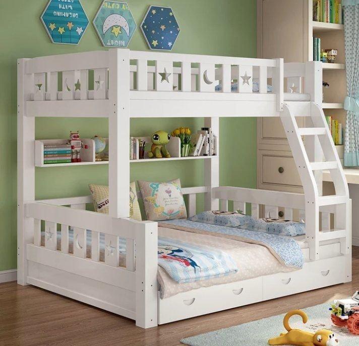 綠巨人家具網*實木雙層床兒童床上下床高低床子母床上下铺松木母子多功能分體床,樂天雙11