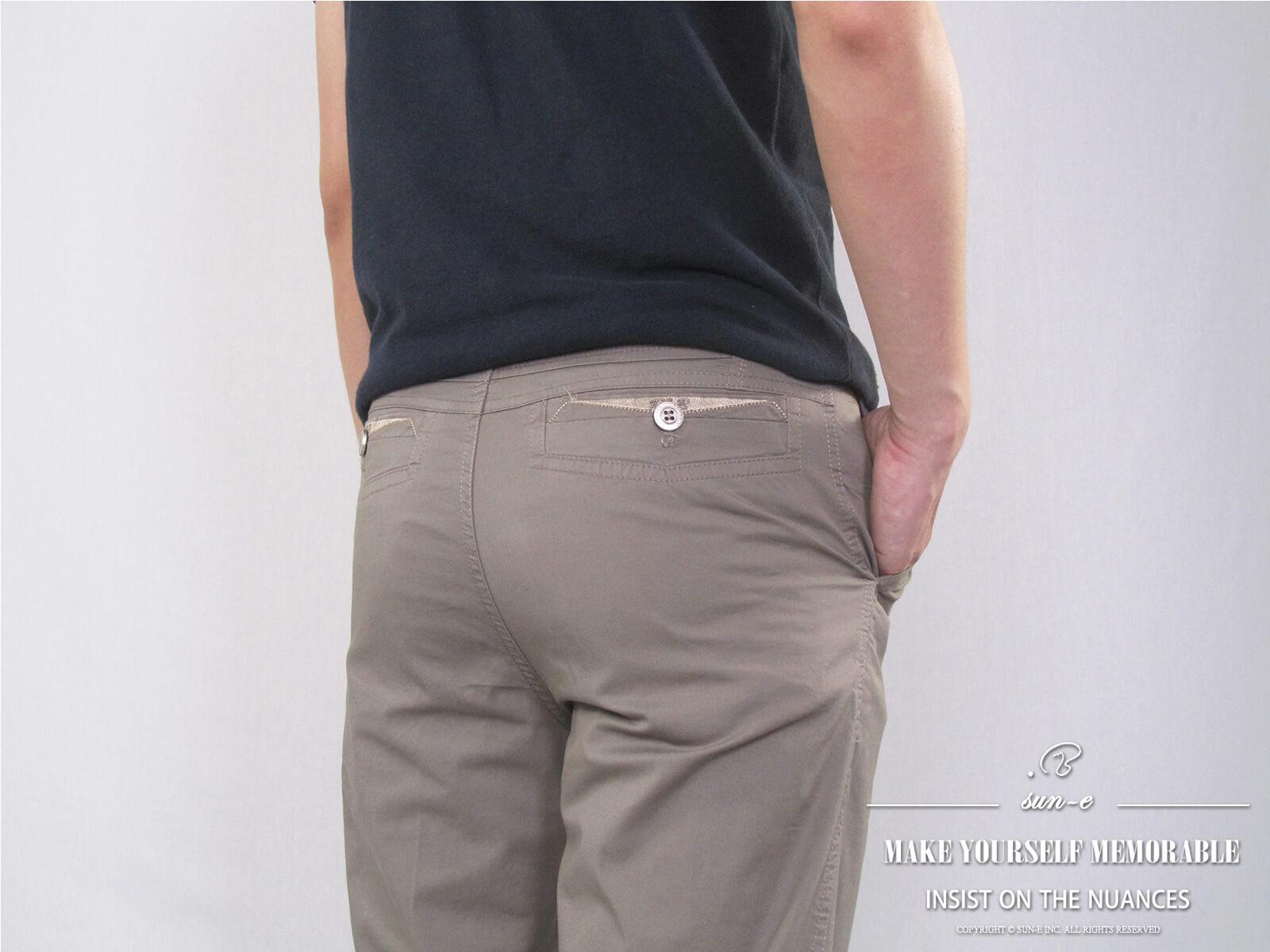 加大尺碼精梳棉平面休閒長褲 大尺寸顯瘦彈性長褲 時尚卡其長褲 PANTS (327-8106-01)銀灰色、(327-8106-02)卡其色 L XL 2L 3L 4L 5L (腰圍30~40英吋) [實體店面保障] sun-e 2
