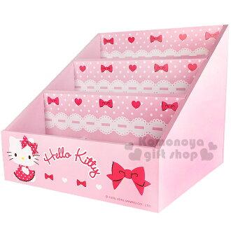 〔小禮堂〕Hello Kitty 三層多格收納盒《粉.點點洋裝.蕾絲.AD11-0081》輕鬆收納好幫手