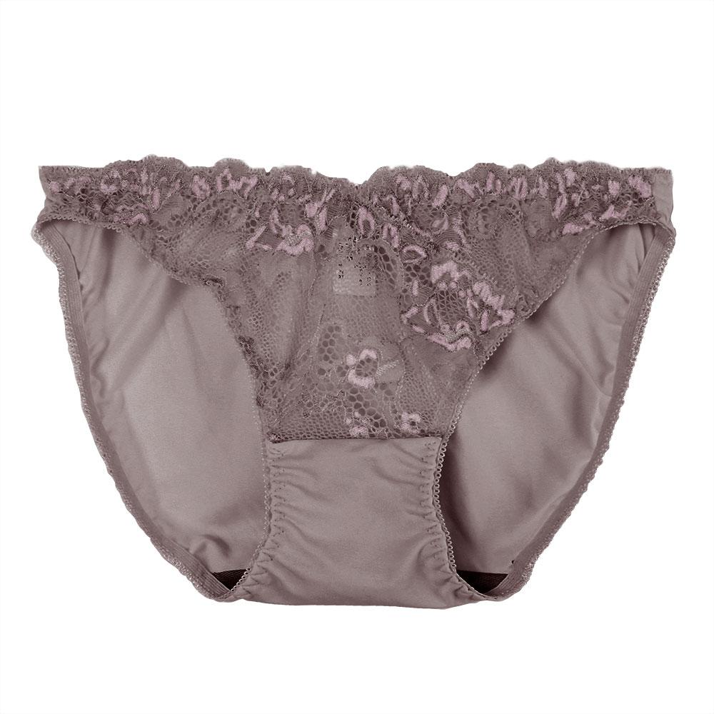 【夢蒂兒】黑絲絨蕾絲竹炭系列三角褲(芋紫) - 限時優惠好康折扣