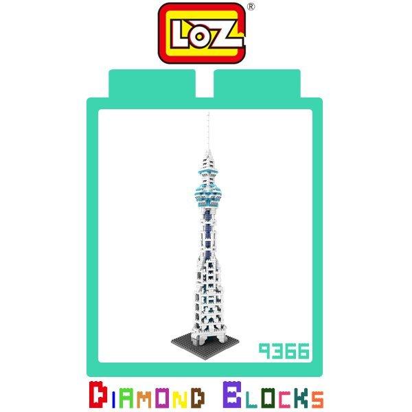 LOZ 鑽石積木 9366 天空樹 630PCS/益智/趣味/迷你/腦力激盪/積木/公仔/玩具/智力【馬尼行動通訊】