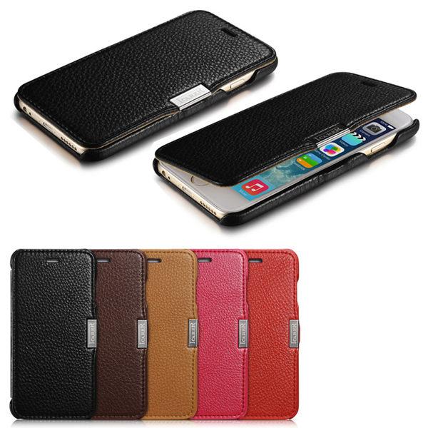 ICARER 荔枝紋系列 iPhone6 4.7 磁扣側掀 手工真皮皮套【馬尼行動通訊】