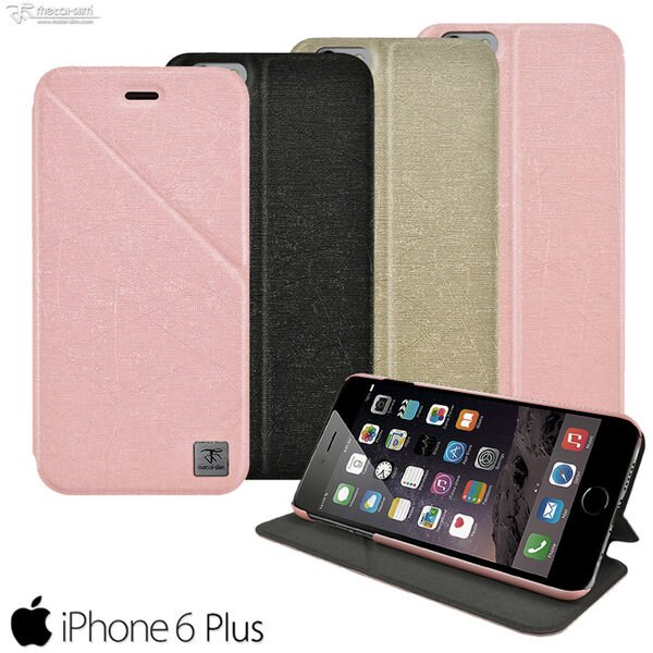 Metal-Slim Apple iPhone 6 plus 鏡頭可翻式站立磁吸皮套 i6 plus 5.5【馬尼行動通訊】