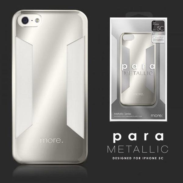 more.Para Metallic for iPhone 5C透明銀色保護套 iPhon