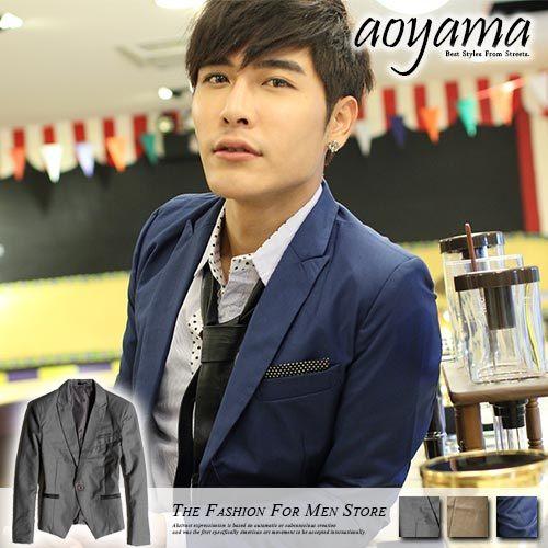 [青山~AOYAMA] 韓版專櫃材質合身剪裁黑色點點短版長袖西裝外套/襯衫穿搭4色【D2051】