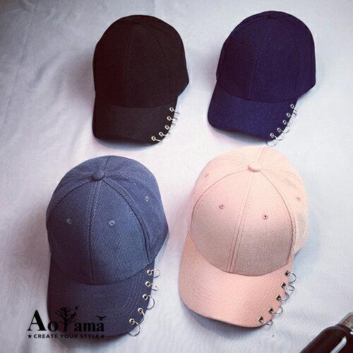 個性圓孔鉚釘裝飾棒球帽【CMH016】SNAPBACK 青山AOYAMA