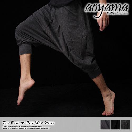 [青山~AOYAMA] 純正韓風時尚流行指標造型素面七分棉褲/飛鼠褲/短褲3色任選【 WA320】