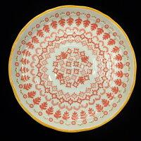 鄉村風zakka雜貨到※明雅家居館※波西米亞鄉村風碗盤日式碗盤家用陶瓷碗盤日本進口釉下彩