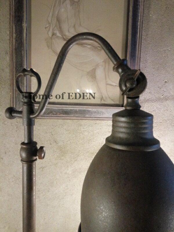 【EDEN】Vintage復古懷舊意大利古樸手工做舊仿古磨砂鐵藝臺燈1入