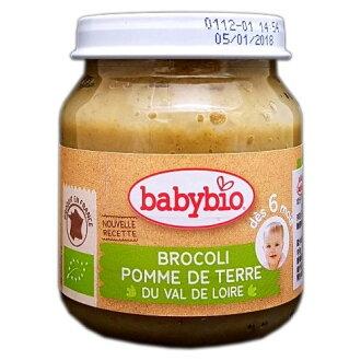 『121婦嬰用品館』法國 Babybio 有機綠花椰蔬菜泥(130g/4M+)