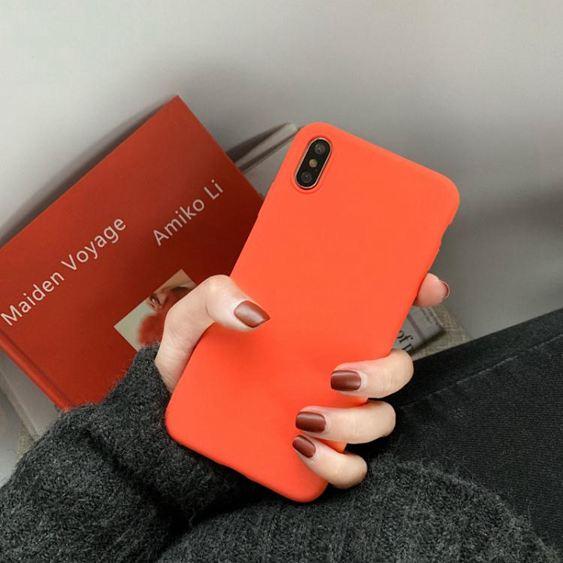 活力橙色軟套vivox21手機殼vivox23簡約純色女款x9s/x20全包