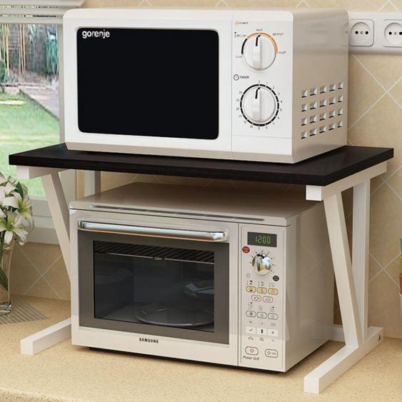 微波爐架雙層家用廚房置物架子2層收納架不銹鋼多層烤箱落地架子YDL