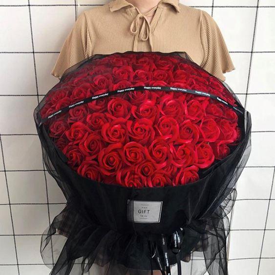 仿真花 玫瑰花束生日求婚表白禮物送女友閨蜜朋友仿真假花肥皂香皂花禮盒