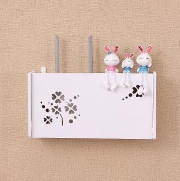 收納盒 無線路由器收納盒壁掛WiFi置物架貓裝飾免打孔遮擋箱機頂盒架子