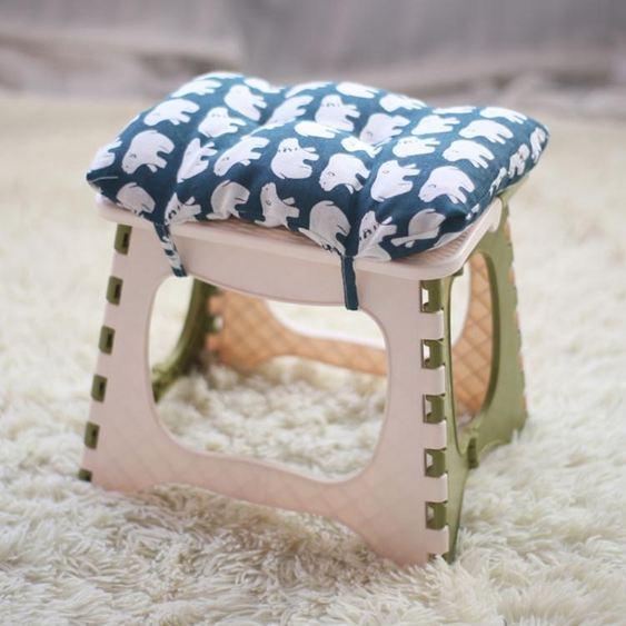 家用 加厚椅子塑料便攜戶外兒童馬扎 幼兒園迷你摺疊凳ATF