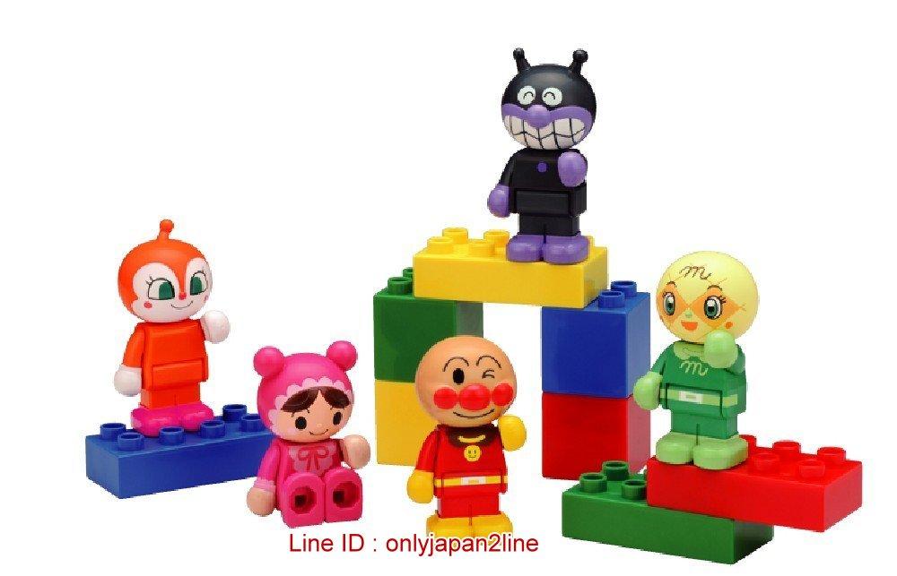 【真愛日本】16123000022五入人形積木組-AP  電視卡通 麵包超人 細菌人 兒童玩具 正品