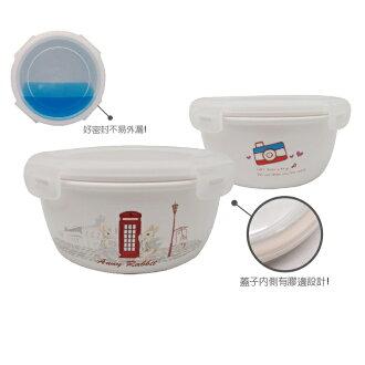 【安妮兔】陶瓷保鮮密扣蓋碗 650ml(021UP-A366)