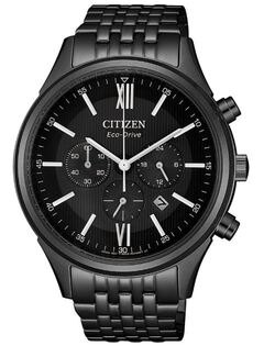 CITIZEN星辰CA4415-81E光動能光軌三眼計時腕錶藍黑42mm