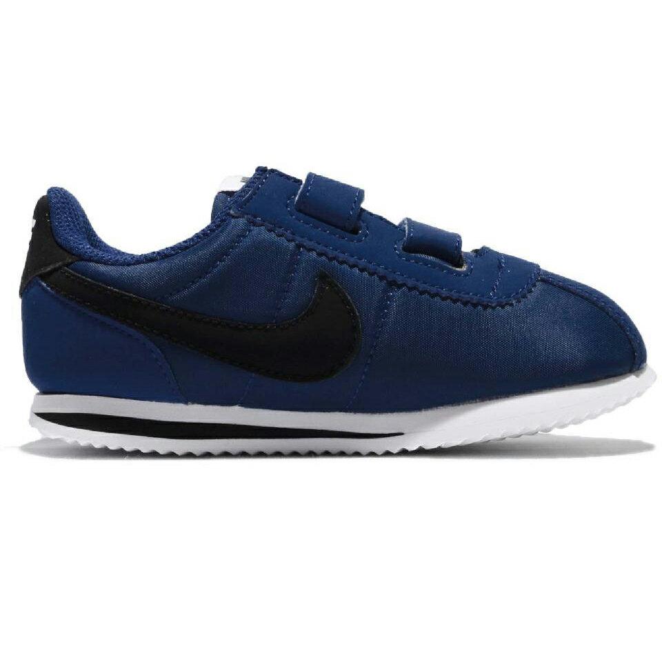 Nike CORTEZ BASIC NYLON TDV 童鞋 小童 阿甘 深藍 黑 【運動世界】 904763-402【12/1-31 單筆滿2000結帳輸入序號 XmasGift-outdoor 再..