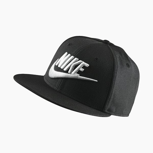 美國百分百【全新真品】NIKE耐吉snapback帽子配件棒球帽男女遮陽帽卡車司機黑色J045