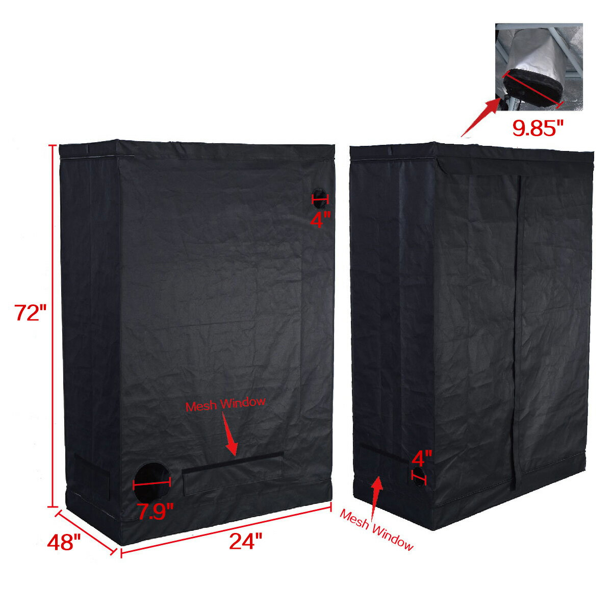 Costway Indoor Grow Tent Room Reflective Hydroponic Non Toxic Clone Hut 6 Size (48u0027  sc 1 st  Rakuten.com & Costway | Rakuten: Costway Indoor Grow Tent Room Reflective ...