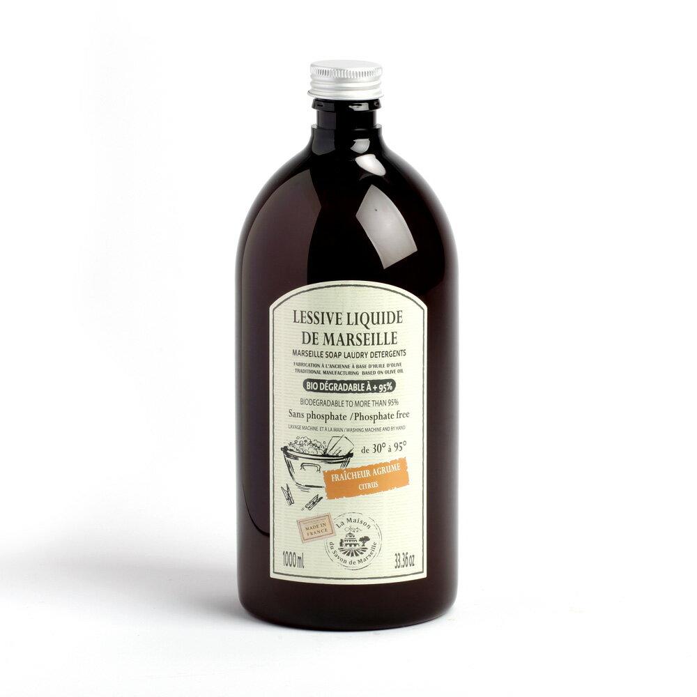 [法國馬賽皂之家] 天然液體洗衣皂 1000ml - 添加柑橘精油
