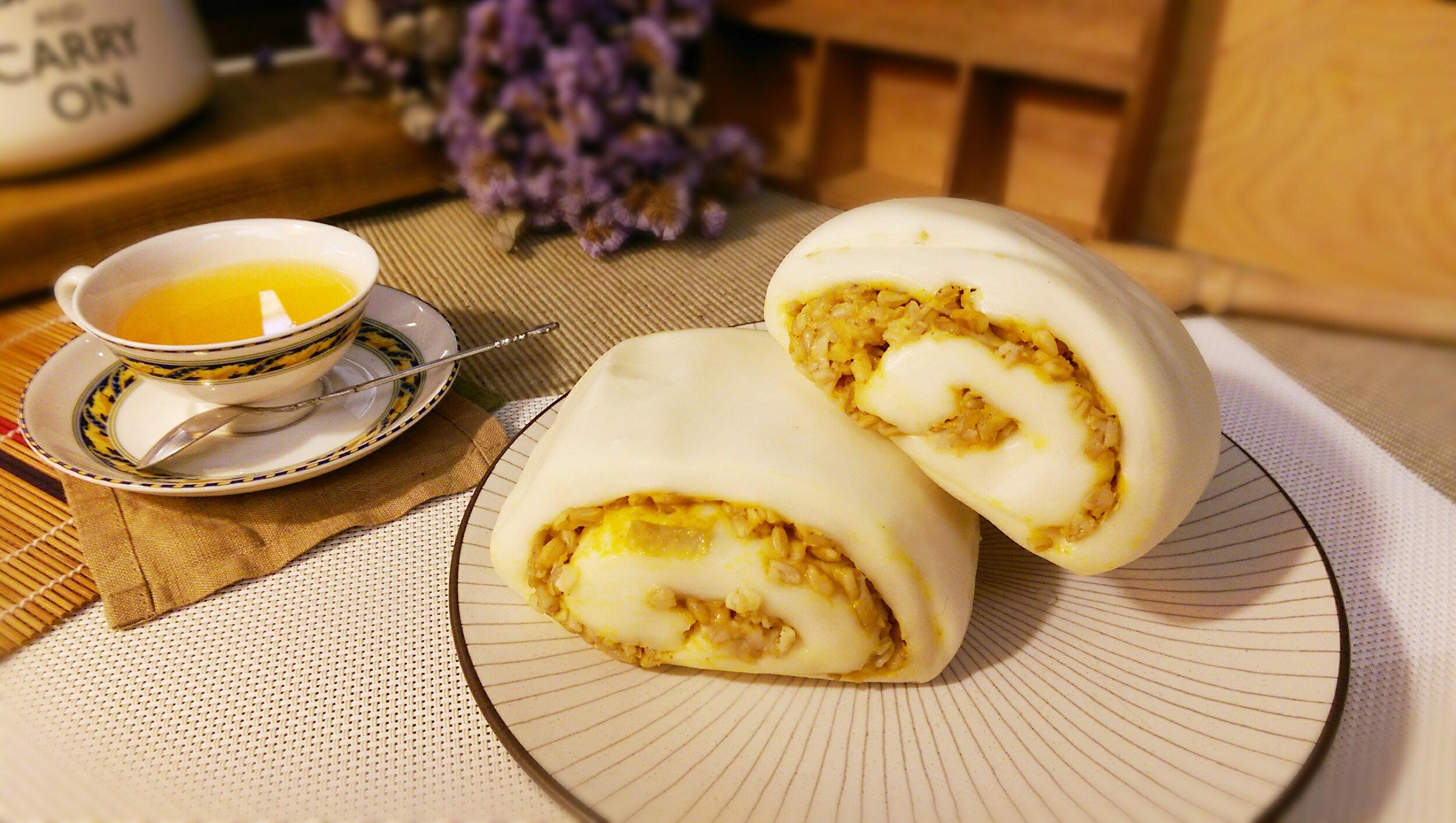 南瓜燕麥饅頭 1