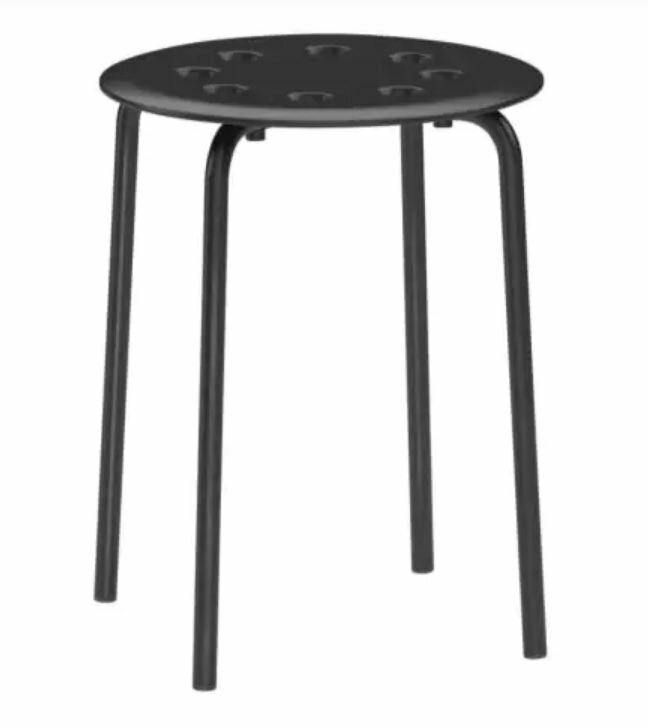 IKEA MARIUS 板凳 黑色 白色 椅子 限宅配