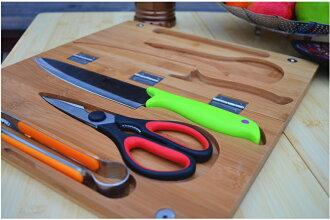 【露營趣】中和 TNR-001 戶外露營刀具組 料理工具 砧板 料理剪刀 水果刀 料理刀 菜刀 夾子